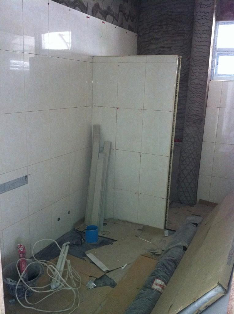 Eins von vier Badezimmer