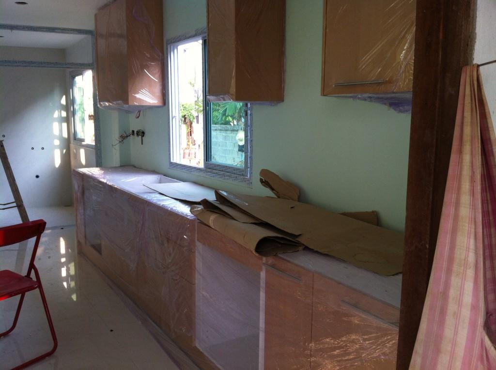 Die Küchen sind montiert
