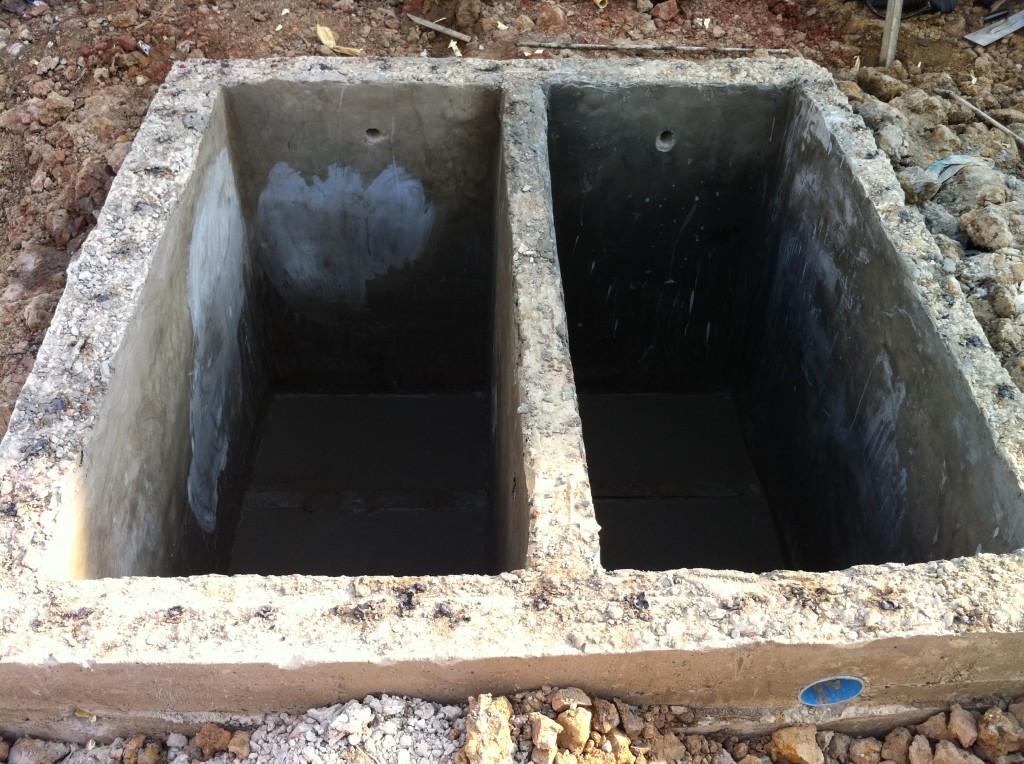 Die Wassertanks sind bald fertig